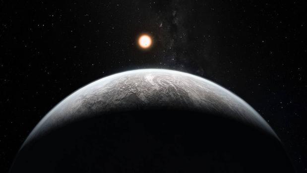 Una supertierra rocosa alrededor de una estrella, uno de los objetos que espera encontrar TESS