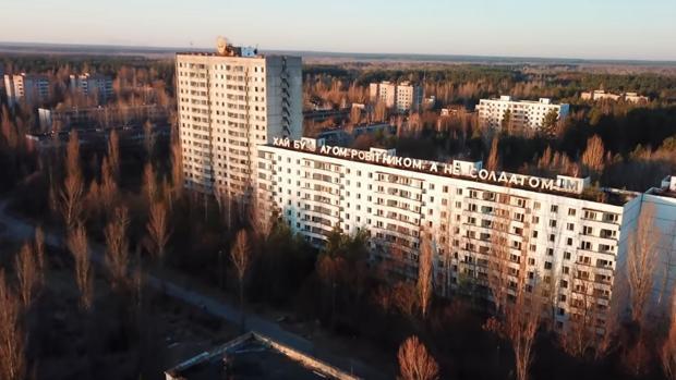 Imagen aérea de Prípiat (Ucrania)