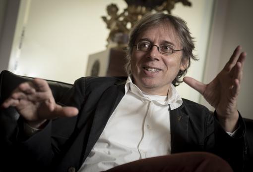 Bjorn Stevens, durante la entrevista, este lunes