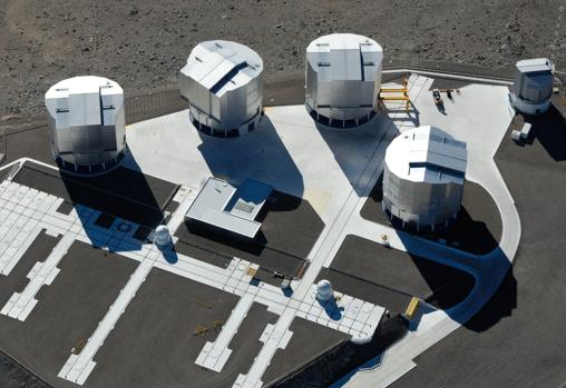 Vista aérea del «Very Large Telescope» en el observatorio de Cerro Paranal, en Chile