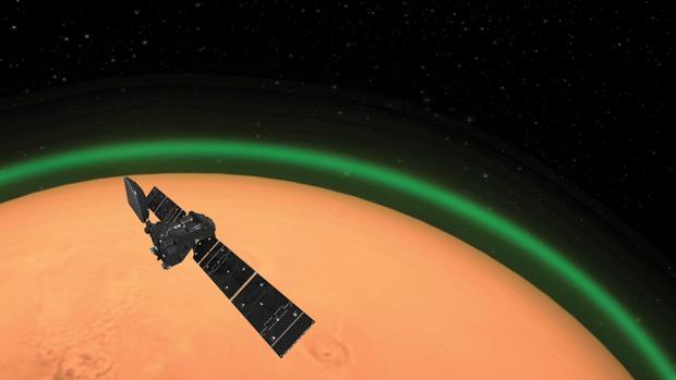 Detectan un extraño resplandor verdoso en Marte