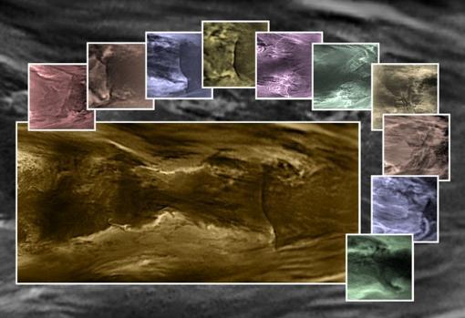 La estructura de la atmósfera de Venus, desde agosto de 2016 (abajo a la izquierda) y su evolución hasta 2018