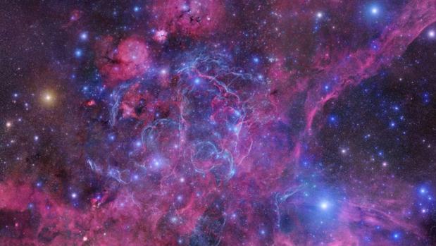 Imagen de los restos de la supernova Vela