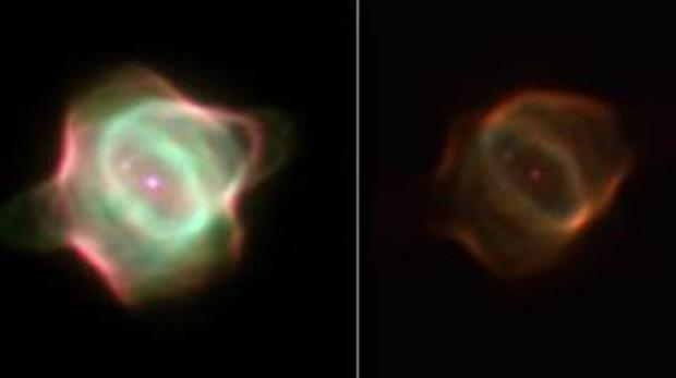 La nebulosa de la Mantarraya en imágenes tomadas por el Telescopio Espacial Hubble en 1998 y 2016