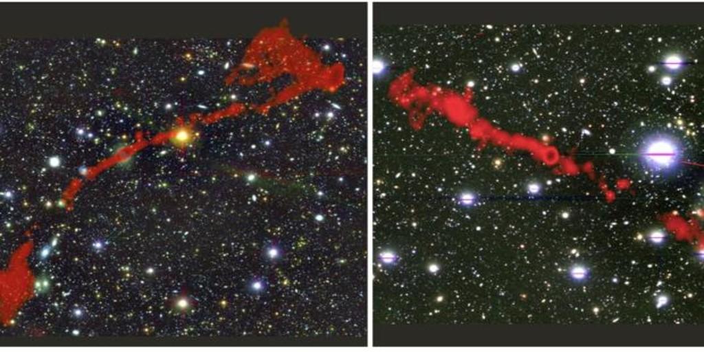 Hallan dos monstruosas galaxias, 62 veces más grandes que nuestra Vía Láctea