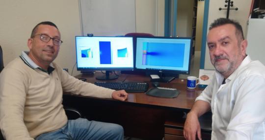 Los investigadores Miguel Ángel Herrada Gutiérrez y Gabriel Cano Gómez