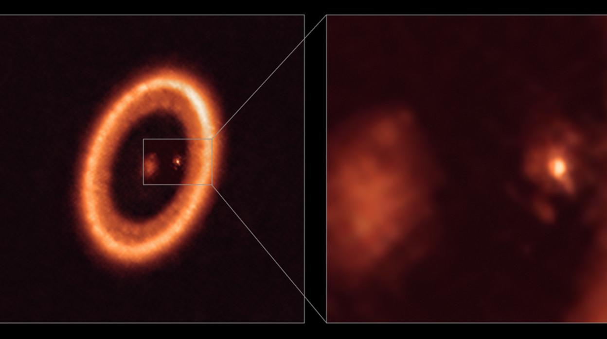 Observan, por primera vez, un 'disco formador de lunas' alrededor de un lejano planeta