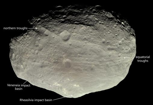 El asteroide Vesta