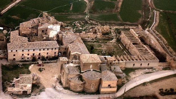 Vista aérea del Monasterio de Sigena, en Huesca