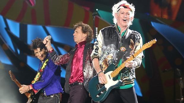 Ronnie Wood, Mick Jagger y Keith Richards, durante el concierto de los Stones en La Habana
