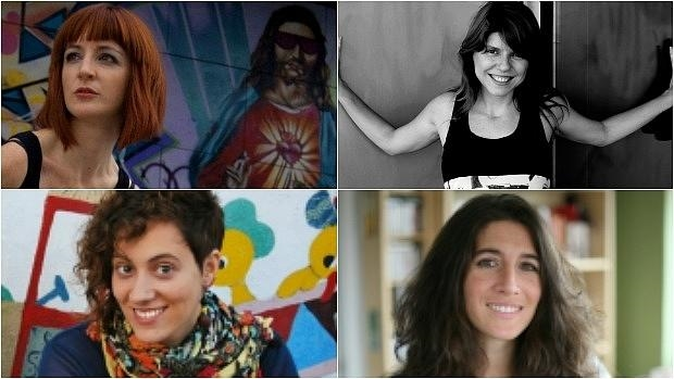 De izquierda a derecha y de arriba a abajo: Carmen Camacho, Miriam Reyes, Martha Asunción Alonso y Vanesa Pérez-Sauquillo, cuatro de las 29 poetas que forman parte de la antología «(Tras)Lúcidas»