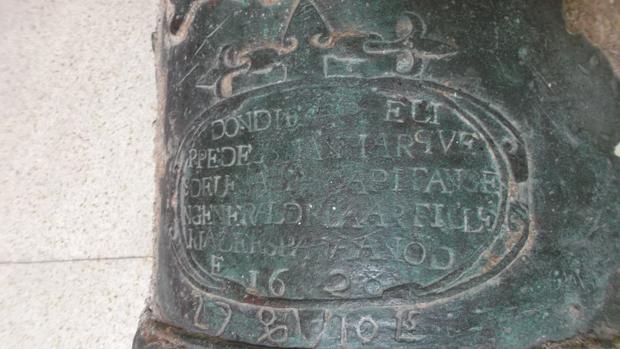 Imagen de un cañon que presumiblemente perteneció al galeón San José