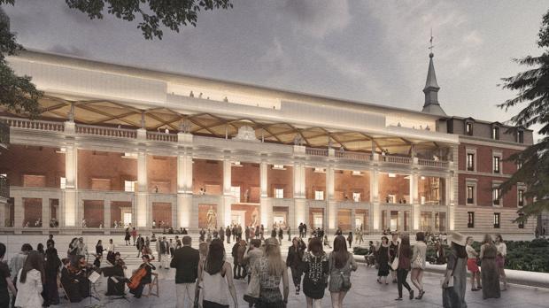 Recreación virtual del nuevo edificio, manteniendo la fachada del XIX