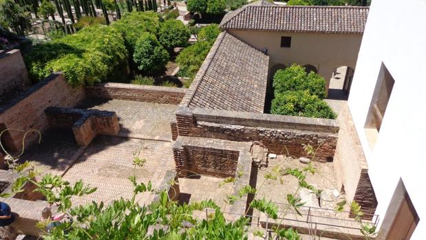 Vista superior de la Casa de los Amigos, en la Alhambra