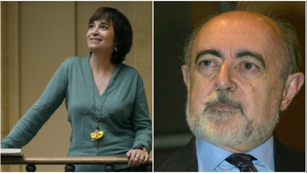 Los escritores Rosa Montero y Carlos García Gual
