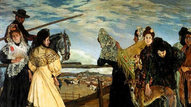 «Víspera de la corrida», una de las obras de Zuloaga disponibles en la exposición de la Fundación Mapfre