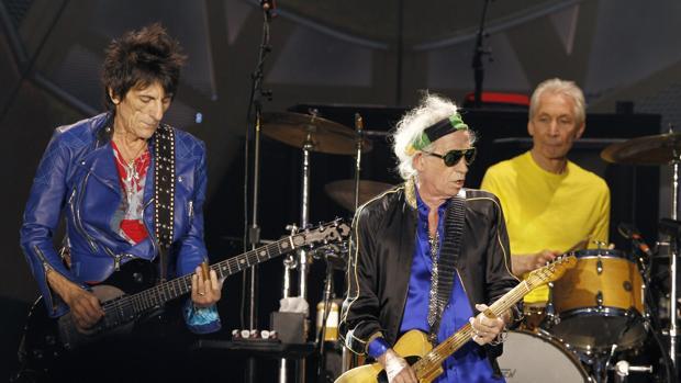 Los guitarristas de Rolling Stones Keith Richards y Ron Wood