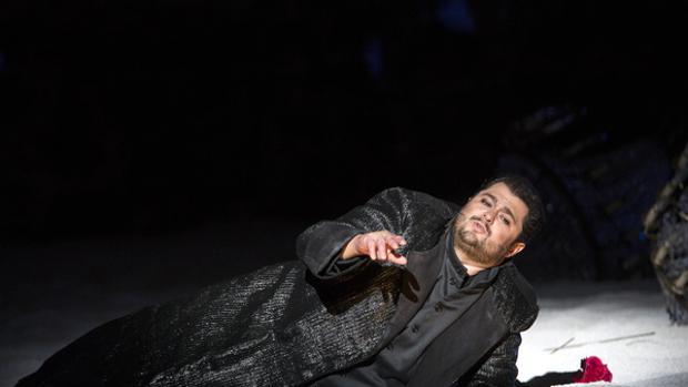 Celso Albelo, en una escena de «I Puritani»