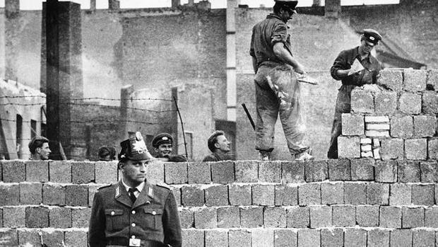 East Berlin antes de la construcción del muro en