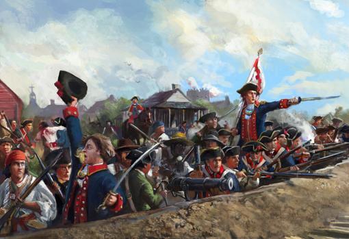 Milicianos durante la defensa de San Luis, en la alta Luisiana