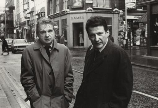 Francis Bacon (izquierda) y Lucian Freud, cuando aún eran amigos
