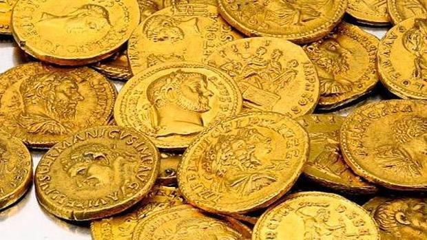 Monedas romanas acuñadas en oro