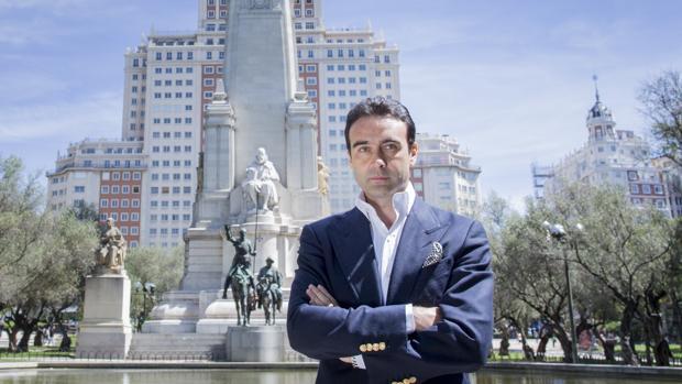 Enrique Ponce, en la Plaza de España de Madrid