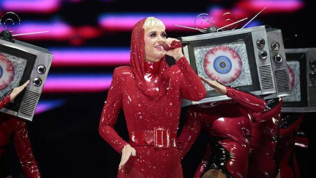 Katy Perry, durante su último concierto en Barcelona