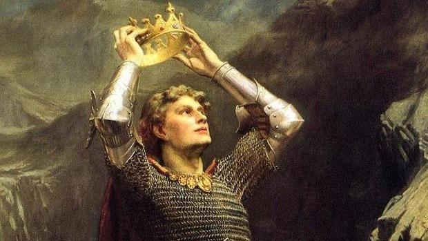 El rey Arturo, en una pintura de Charles Ernest Butler