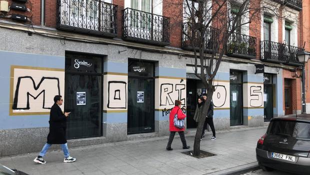 La librería vandalizada en Lavapiés