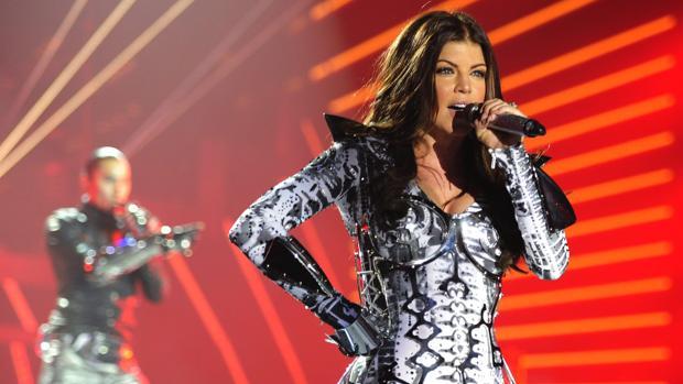 Fergie, cantante de Black Eyed Peas, durante un concierto de la banda en Zúrich