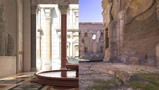 El lujo cubría cada milímetro de las imponentes ruinas actuales de las Termas de Caracalla