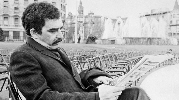 Gabriel García Márquez, fotografiado en Barcelona en 1970