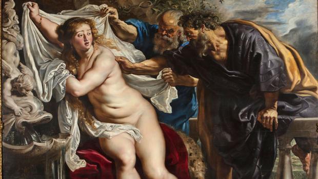 Detalle de «Susana y los viejos», de Rubens, tras su restauración