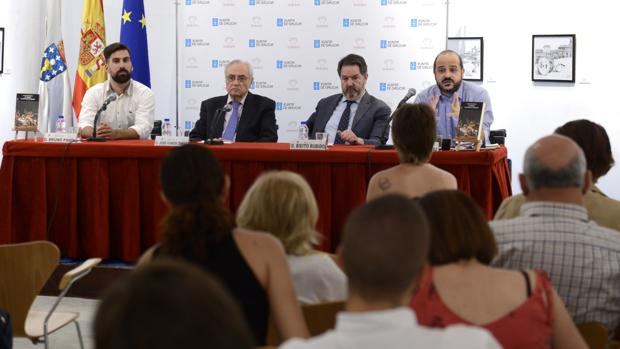 De izquierda a derecha: Bruno Padín Portela, José Ramón Ónega, Bieto Rubido y Tomás Rodríguez