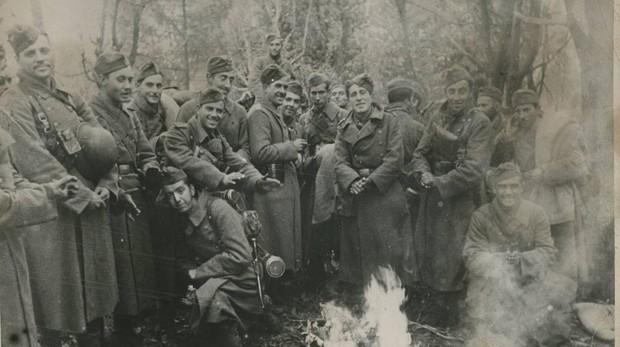 Voluntarios españoles de la División Azul en Leningrado (1941)