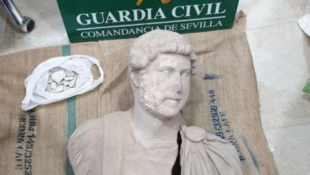 El busto recuperado por la Guardia Civil