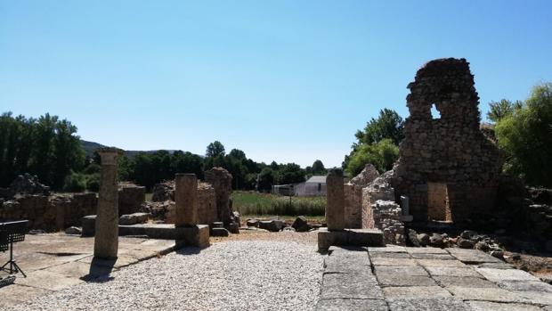 Restos de la antigua ciudad romana de Ammaia
