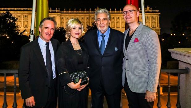 James Conlon, Carmen Giannatasio, Plácido Domingo y Michael Fabiano