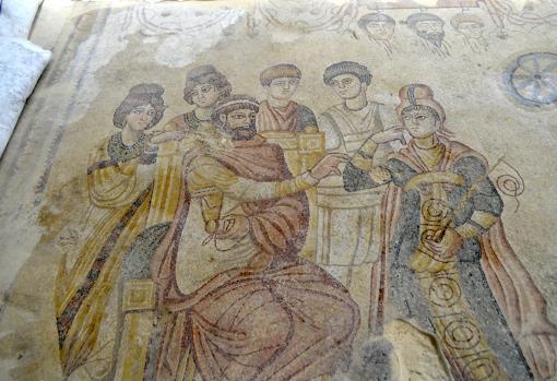 Detalle de una de las escenas del mosaico