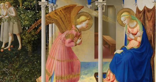 Detalle de «La Anunciación», de Fra Angelico