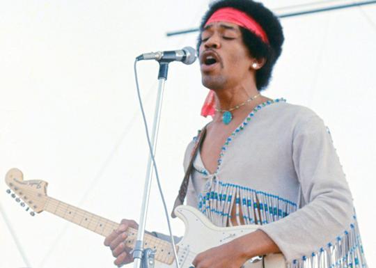 Jimi Hendrix en acción