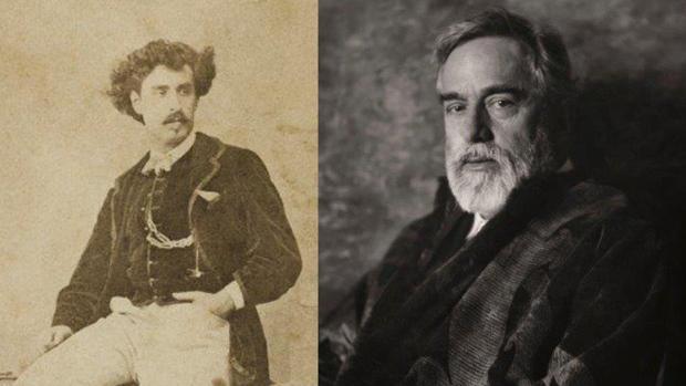 A la izquierda, Mariano Fortuny y Marsal, retratado por Filippo Belli. A la derecha, autorretrato de Mariano Fortuny y Madrazo