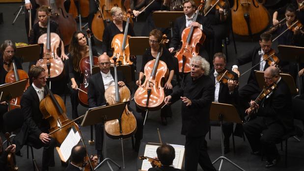 Momento del concierto con la orquesta London Symphony Orchestra