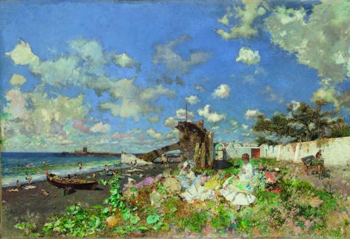 «Playa de Portici», de Mariano Fortuny