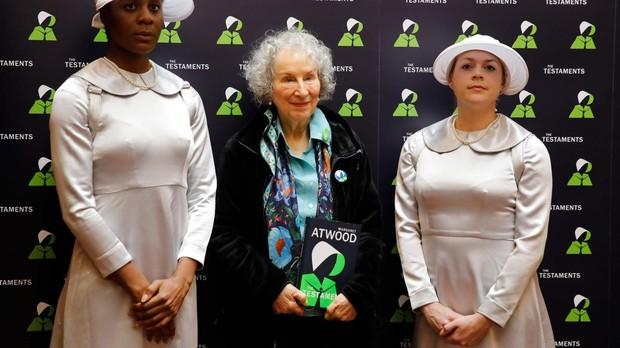 Margaret Atwood en el «photocall» de presentación de su libro «Los Testamentos»
