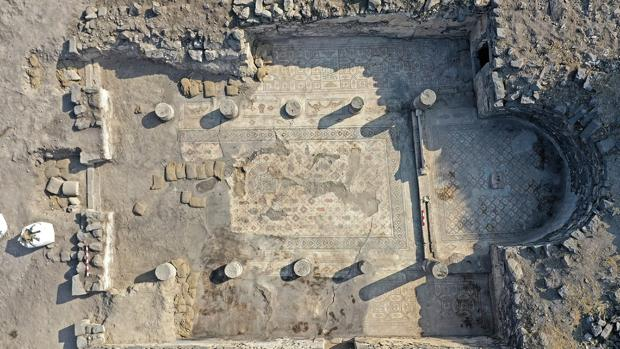 Sitio aqueológico en Israel donde se ha descubierto el mosaico que podría ser un recordatorio de la la multiplicación de los panes y los pece por parte de Jesús