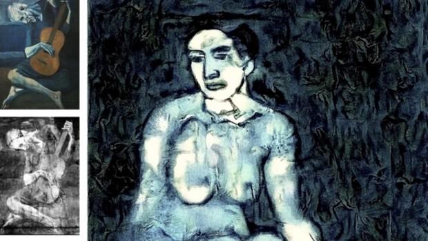 «El viejo guitarrista ciego», el boceto descubierto en 1998 y la recreación de inteligencia artificial