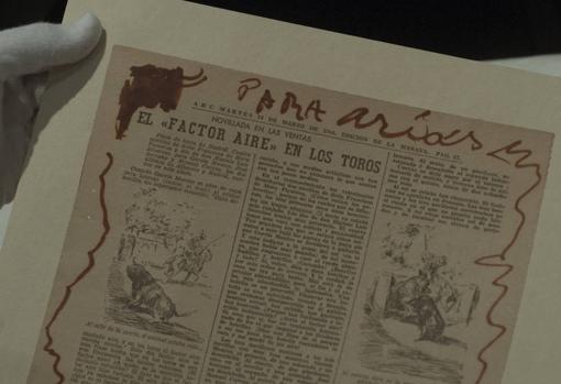 Uno de los dibujos picassianos en las páginas de ABC