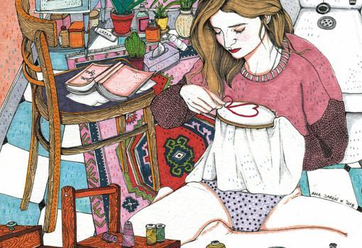 Detalle de una de las ilustraciones de la autora